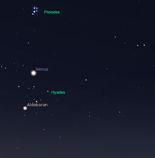 Venus and Taurus in the Morning Sky